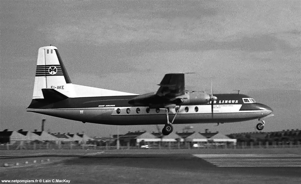 Fokker F27 de la compagnie aérienne Aer Lingus en 1962