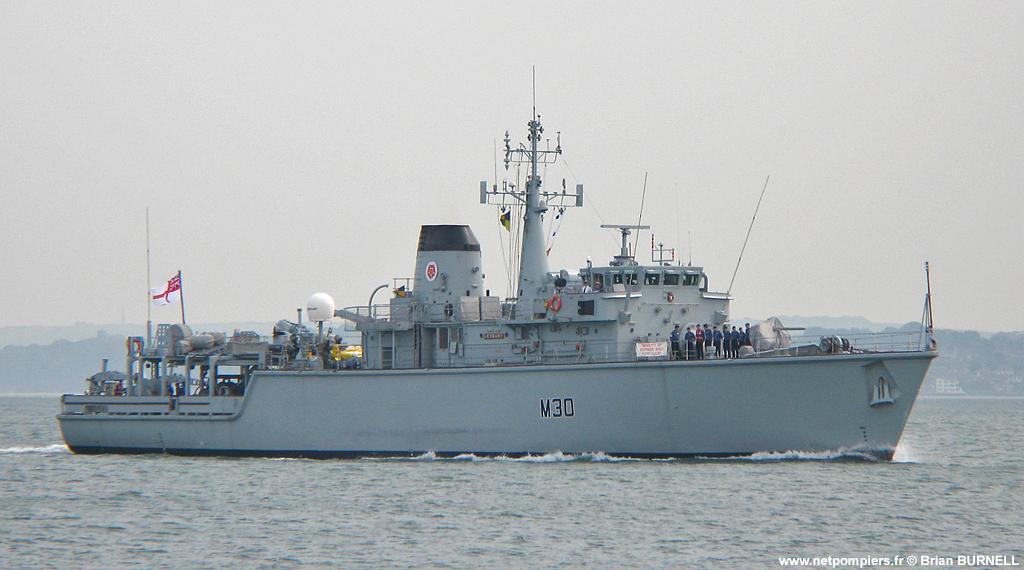 Chasseur de mines britanniques HMS Ledbury