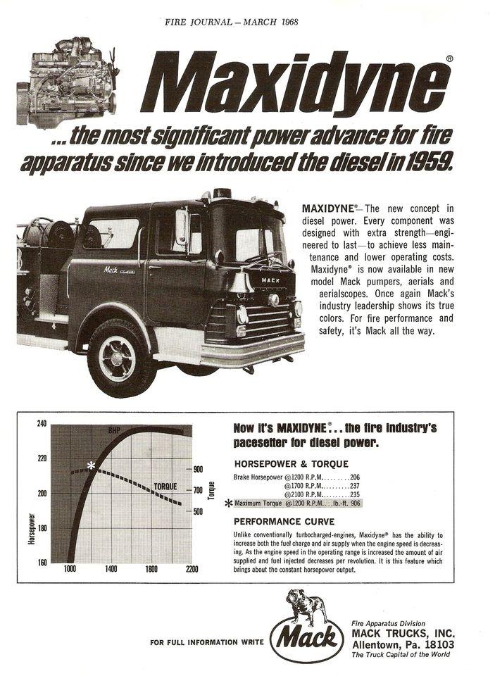 Moteur diesel Mack Maxidyne