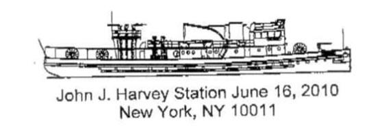 Marque postale américaine célébrant le bateau-pompe John J Harvey