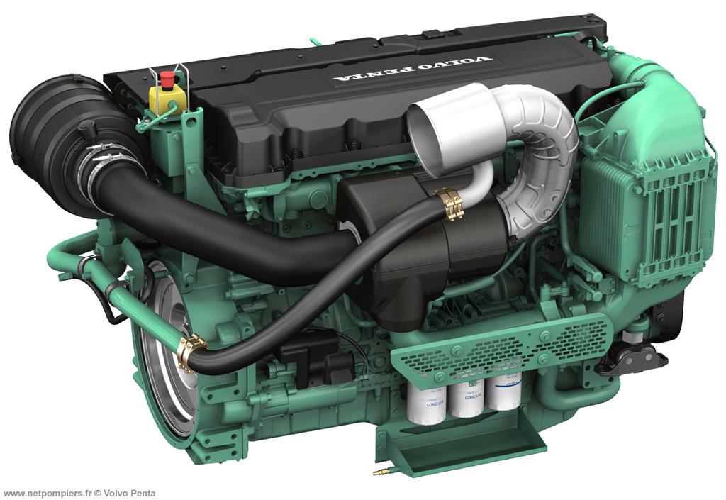 Moteur diésel Volvo Penta 6 cylindres