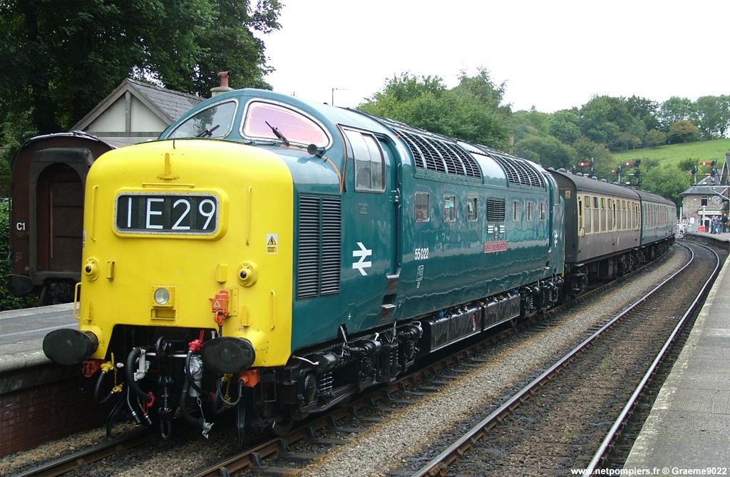 Motrice ferroviaire britannique 55022 de la classe 55.