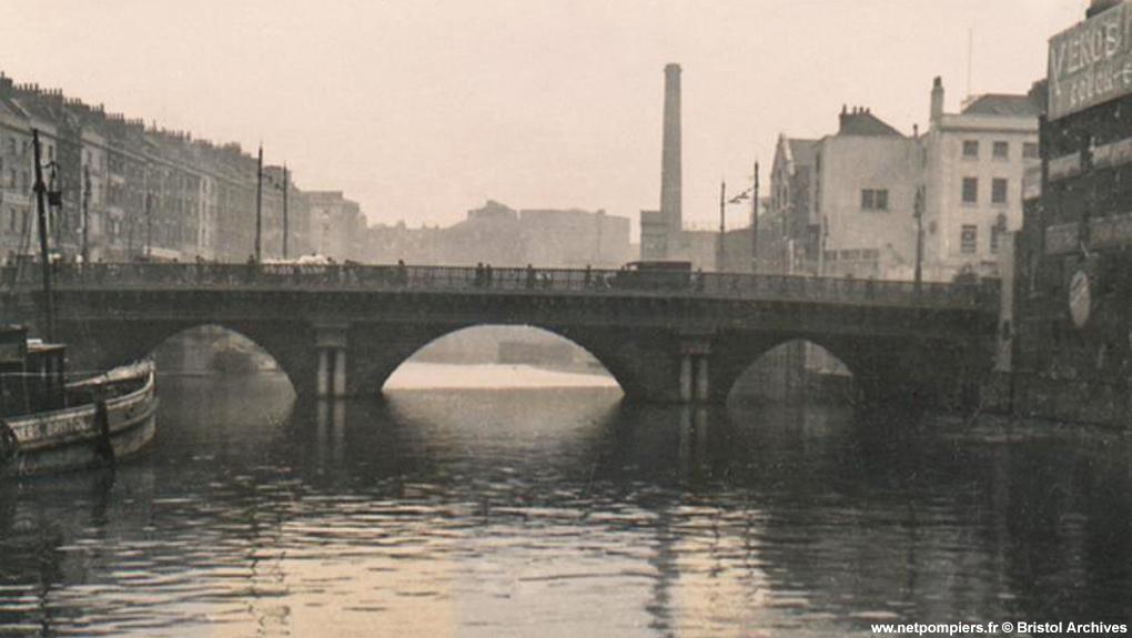 Bristol Bridge de Bristol vers 1930.