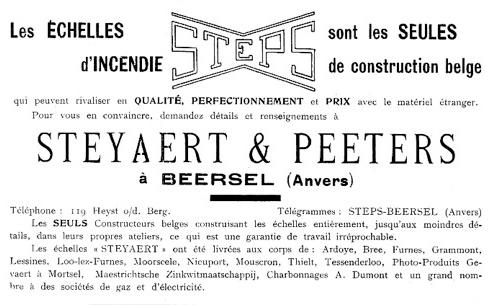 Publicité Steyaert, 1930