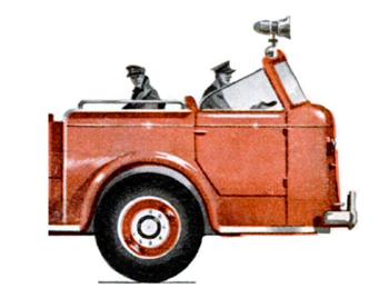 Cabine ouverte du châssis American LaFrance 700