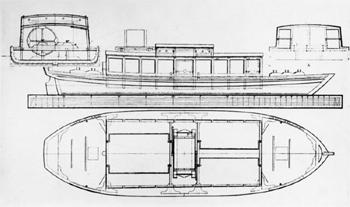 Bateau-pompe construit dans les années 1780 et mis en service à Bristol