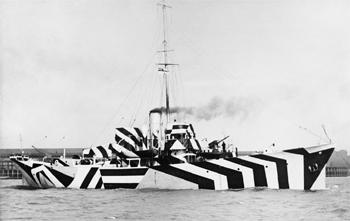 La canonnière britannique HMS Kildangan en 1918.