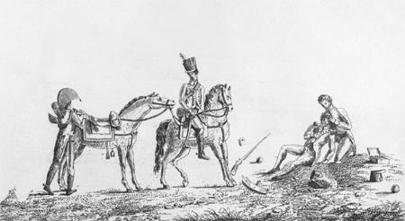 <h2>Pansement d'un blessé sur le champ de bataille.  </h2>