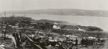 Une partie de Halifax après l'explosion...