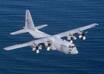 Un Lockheed C-130 Hercules de l'Armée de l'air des États-Unis