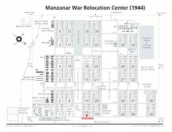 <h2>Le camp d'internement de Manzanar en 1944</h2>