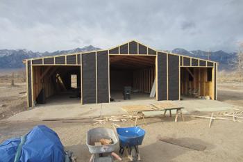 <h2>Le centre d'intervention incendie pendant sa reconstruction</h2>
