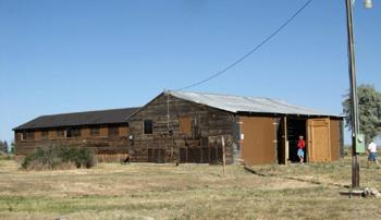 Le centre d'intervention incendie avant sa reconstruction