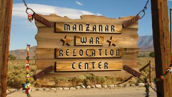 <h2>Entrée du camp de Manzanar en Californie</h2>