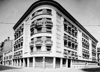 <h2>Le Quartier-Central des sapeurs-pompiers de Lyon en 1940</h2>