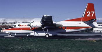 #250 - Loué à la Conair à partir de 1986. Se crashe en intervention dans le Gard en septembre 1989 avec perte de son équipage. De ce fait il n'a jamais porté d'immatriculation française de type F-ZBXX propre aux appareils de la Sécurité civile et des Douanes. Photographie Bertrand LEDUC - 1988