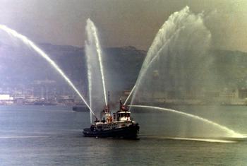 #269 - Ancien remorqueur portuaire de la Marine américaine Hoga. En service à Oakland de 1948 à 1996. Photographie Oakland Firefighters Historical Archive - 1980