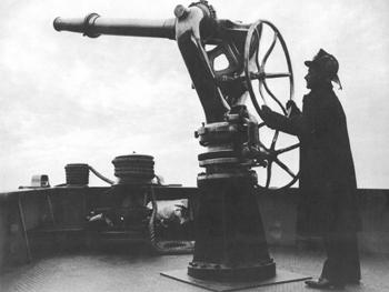 Une des lances-canons du bateau-pompe Fire Fighter