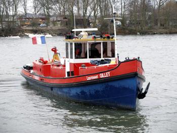 Le bateau-pompe Lieutenant Gillet