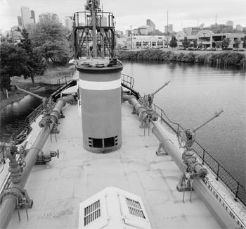 #401 - Bateau-pompe en service à Seattle de 1909 à 1985. Long de 36.50 mètres. Capacité hydraulique initiale de 34 000 l/min. Monument historique depuis 1989. Photographie Library of Congress, Prints & Photographs Division, HAER WA-174