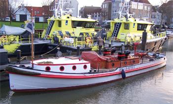 #419 - Bateau-pompe Jan van der Heyde II, Bateau-pompe en service à Amsterdam de 1930 à 1983. Long de 17 mètres. Capacité hydraulique de 6 000 l/min. Photographie  - 2014