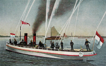 #442 - Pompe à vapeur et lance-canon du bateau-pompe Jason, premier du nom, en service à Amsterdam de 1904 à 1963. Capacité hydraulique de 12 000 l/min. Photographie Nationaal Brandweermuseum