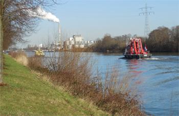 Le bateau-pompe Gelderland de Nimègue, Pays-Bas
