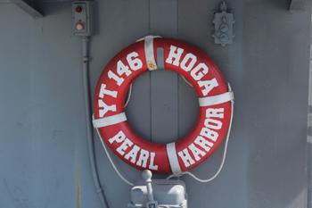 #273 - Remorqueur de l'US Navy de 1941 à 1948 puis bateau-pompe du port d'Oakland de 1948 à 1993. Exposé aujourd'hui à l'Arkansas Inland Maritime Museum à North Little Rock (US, Arkansas). La bouée de sauvetage. Photographie Boncrechief - 2009