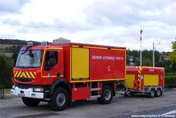 Dévidoir automobile, Sapeurs-pompiers, Meuse (55)