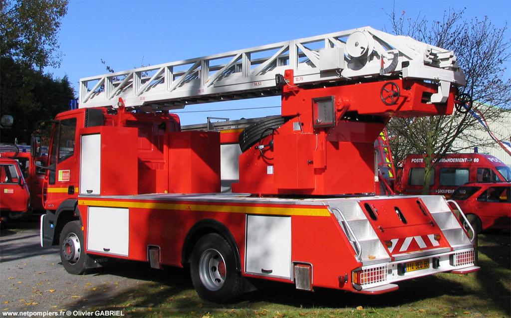 Echelle pivotante, Sapeurs-pompiers, Oise (60)