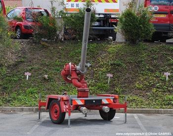 Remorque canon eau mousse, Sapeurs-pompiers, Val-d'Oise (95)