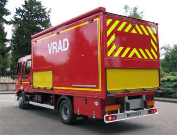 Véhicule pour interventions à risques technologiques, Sapeurs-pompiers, Bas-Rhin (67)