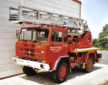Echelle pivotante, Sapeurs-pompiers, Allier (03)