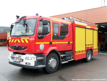Fourgon-pompe tonne secours routier, Sapeurs-pompiers, Isère (38)