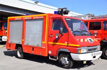 Fourgon électro-ventilateur, Sapeurs-pompiers, Morbihan
