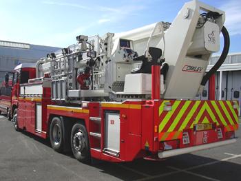 Camion bras élévateur articulé, Sapeurs-pompiers, Seine-et-Marne (77)