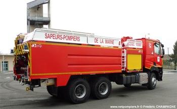 Camion-citerne de grande capacité, Sapeurs-pompiers, Marne (51)