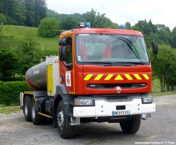 Camion-citerne de grande capacité, Sapeurs-pompiers, Cantal (15)