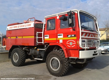 Camion-citerne pour feux de forêts, Sapeurs-pompiers, Bouches-du-Rhône