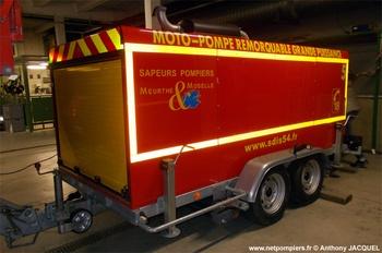 Motopompe remorquable de grande puissance, Sapeurs-pompiers, Meurthe-et-Moselle (54)