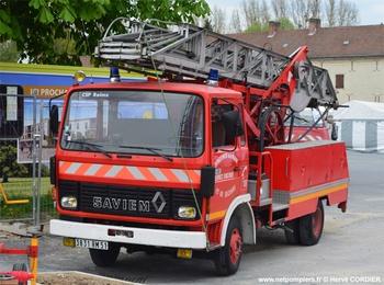 Echelle sur porteur, Sapeurs-pompiers, Marne (51)