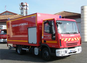 Dévidoir automobile, Sapeurs-pompiers, Lot-et-Garonne (47)