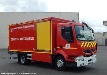 Dévidoir automobile, Sapeurs-pompiers, Ille-et-Vilaine (35)