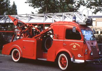 Echelle sur porteur, Sapeurs-pompiers, Haut-Rhin (68)