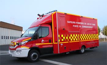 Véhicule poste de commandement, Sapeurs-pompiers, Loir-et-Cher