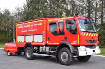 Dévidoir automobile, Sapeurs-pompiers, Morbihan (56)