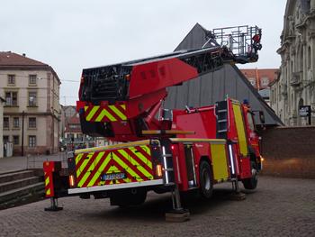 Echelle pivotante, Sapeurs-pompiers, Haut-Rhin (68)