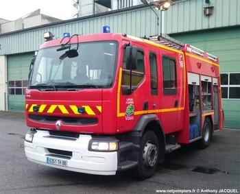 Fourgon-pompe tonne, Sapeurs-pompiers, Vosges (88)