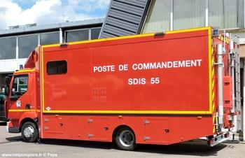 Véhicule poste de commandement, Sapeurs-pompiers, Meuse (55)