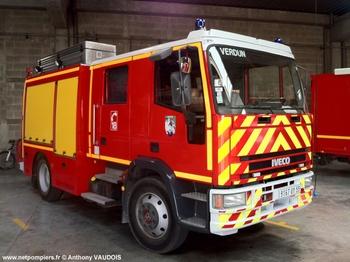 #7674 - Fourgon-pompe tonne Camiva, châssis Iveco Eurocargo 130E23, sapeurs-pompiers, Verdun, Meuse (55)